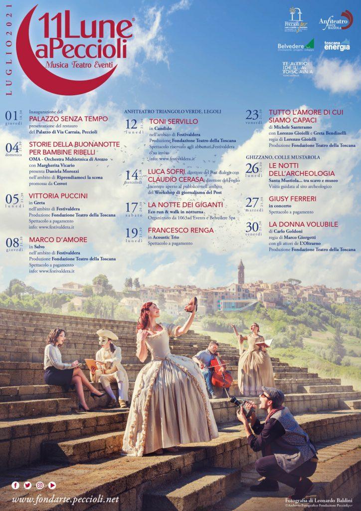 11Lune a Peccioli – Luglio 2021 – Musica, Teatro, Eventi